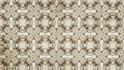 Light Brown Vintage Floral Seamless Pattern Wallpaper Design Template