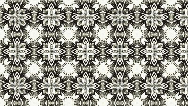 Decorative Geometric Seamless Pattern Wallpaper