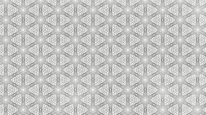 Light Gray Seamless Ornamental Pattern Wallpaper