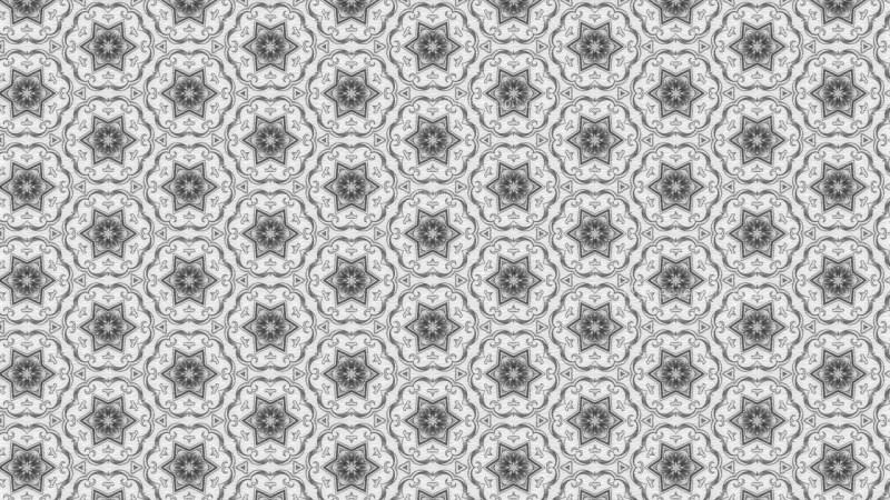 Light Grey Floral Ornament Wallpaper Pattern Image