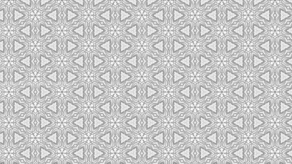 Light Gray Seamless Floral Geometric Wallpaper Pattern