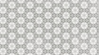 Light Grey Floral Seamless Geometric Pattern Background Template