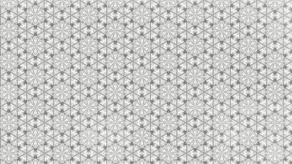 Light Gray Geometric Seamless Ornament Pattern Background