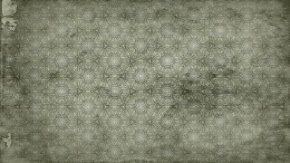 Olive Green Vintage Seamless Ornamental Pattern Wallpaper