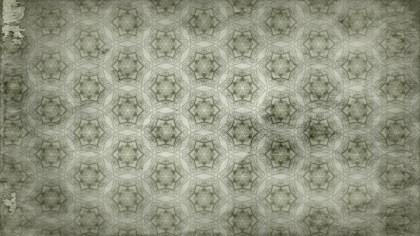 Olive Green Vintage Decorative Ornament Wallpaper Pattern