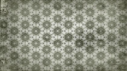 Olive Green Vintage Seamless Floral Wallpaper Pattern