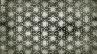 Olive Green Vintage Decorative Floral Pattern Background