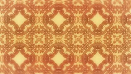 Orange Vintage Floral Seamless Pattern Wallpaper Design Template