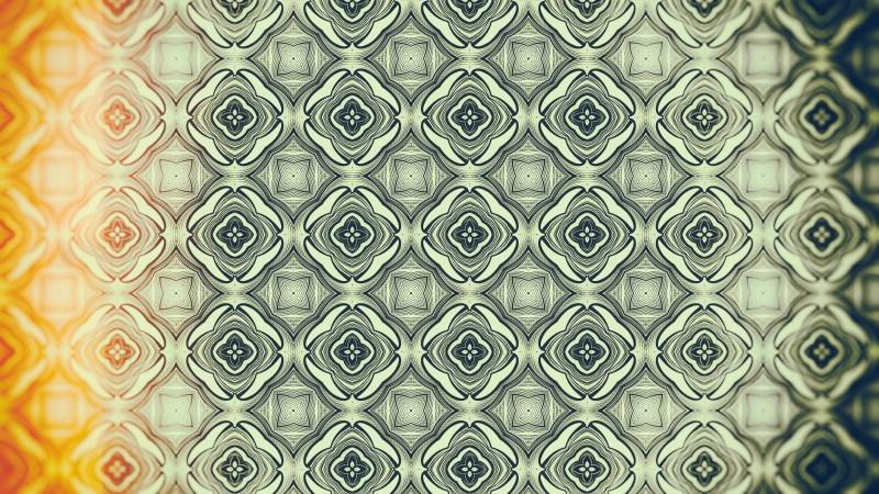 Orange and Green Vintage Flower Wallpaper Pattern