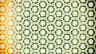 Orange and Green Vintage Seamless Floral Wallpaper Pattern