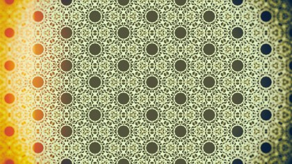 Orange and Green Ornamental Vintage Background Pattern