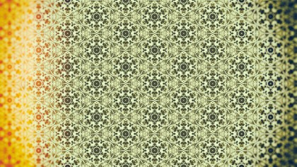 Orange and Green Vintage Seamless Wallpaper Pattern Template
