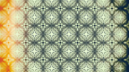 Orange and Green Vintage Decorative Floral Pattern Background