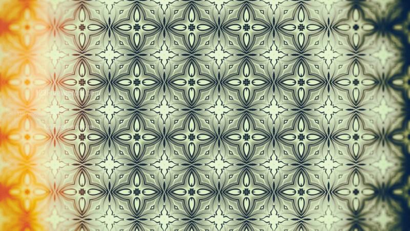 Orange and Green Vintage Decorative Floral Pattern Background
