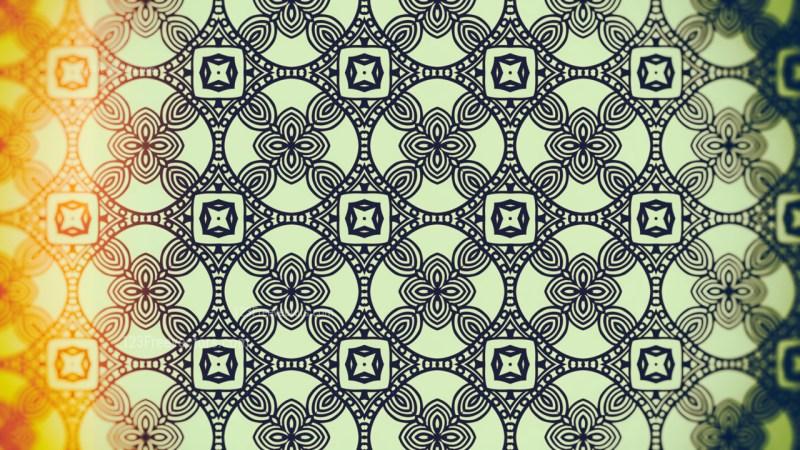 Orange and Green Vintage Ornamental Seamless Pattern Background Design
