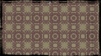 Purple and Beige Vintage Floral Ornament Wallpaper Pattern Graphic