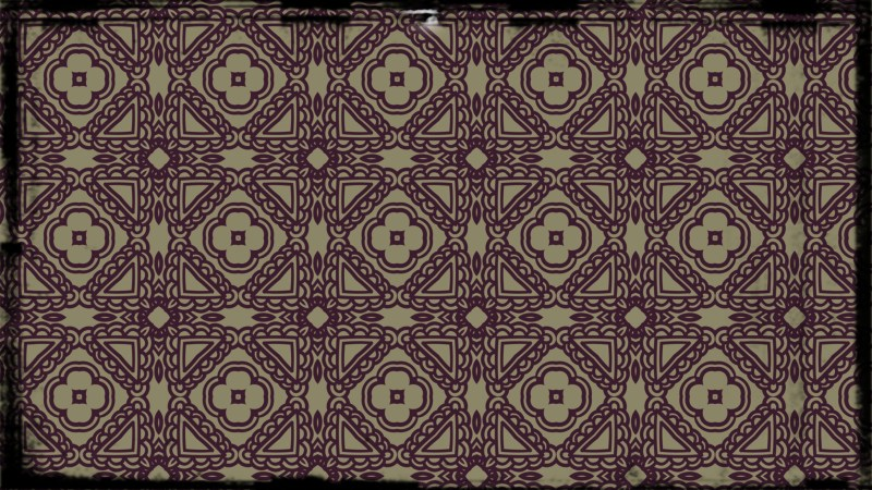 Purple and Beige Vintage Flower Wallpaper Pattern