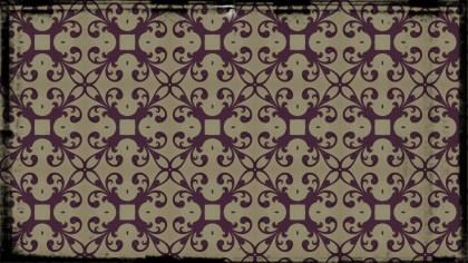Purple and Beige Vintage Ornamental Seamless Pattern Background Design