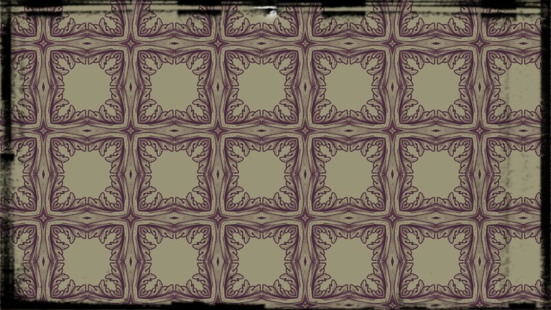 Purple and Beige Vintage Floral Ornament Background Pattern Template