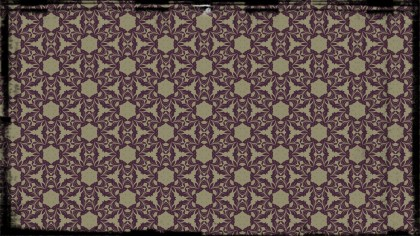 Purple and Beige Vintage Flower Background Pattern