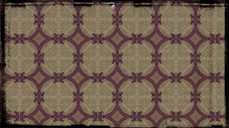 Purple and Beige Vintage Seamless Floral Background Pattern