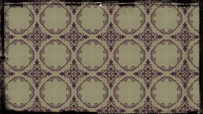 Purple and Beige Vintage Floral Seamless Pattern Wallpaper Design Template
