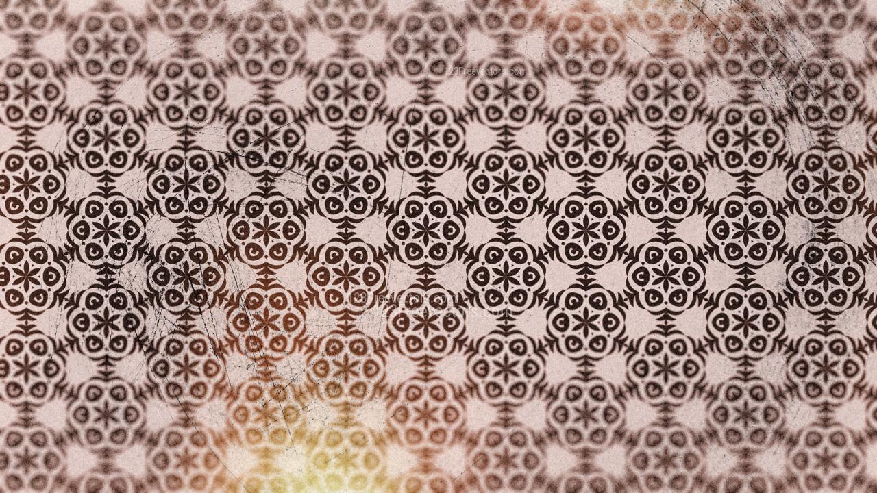 Red Vintage Seamless Ornamental Pattern Background
