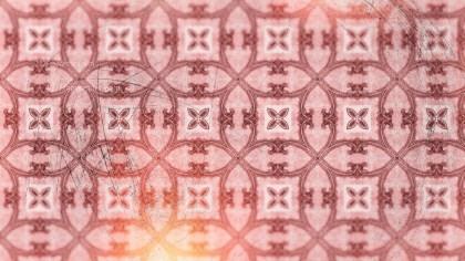 Red Vintage Floral Pattern Wallpaper