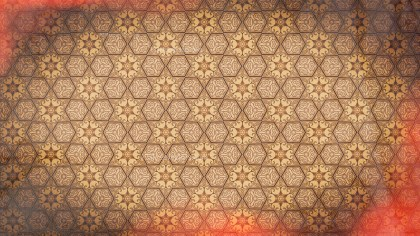 Red and Brown Vintage Flower Wallpaper Pattern