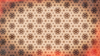 Red and Brown Vintage Decorative Floral Seamless Pattern Background Image