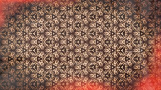 Red and Brown Vintage Floral Pattern Background