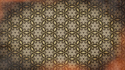 Red and Brown Vintage Floral Seamless Pattern Background Graphic
