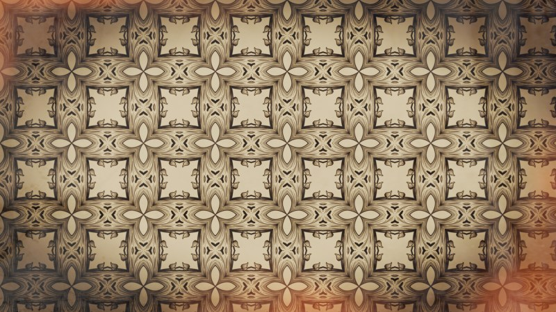 Red and Brown Vintage Seamless Ornamental Pattern Background