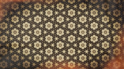 Red and Brown Vintage Floral Ornament Background Pattern Template