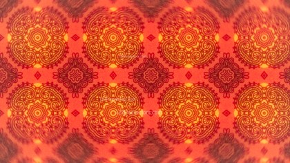 Red and Orange Vintage Seamless Ornamental Pattern Wallpaper