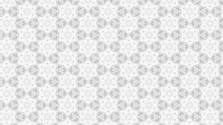 White Decorative Seamless Pattern Wallpaper