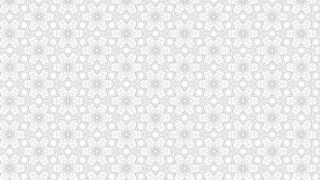 White Floral Seamless Geometric Pattern Wallpaper Template