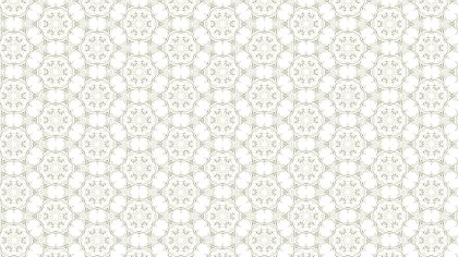 White Geometric Seamless Ornament Pattern Wallpaper