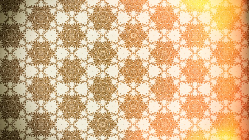 Yellow and Brown Vintage Floral Wallpaper Background
