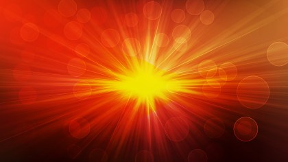 Abstract Black Red and Yellow Bokeh Defocused Lights with Rays Background Vector Image