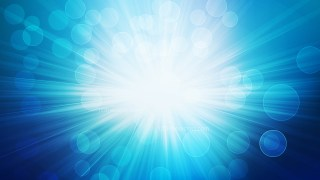 Blue and White Blurred Lights Background with Rays