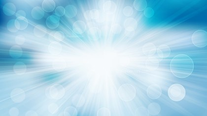 Blue and White Defocused Lights with Light Rays Background Illustrator
