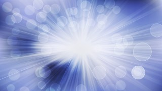 Abstract Blue and White Blurred Lights Background with Rays Vector Image