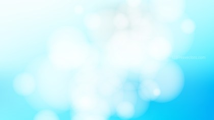 Blue and White Blurred Bokeh Background