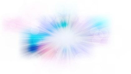 Abstract Blue Purple and White Bokeh Background with Light Rays Image