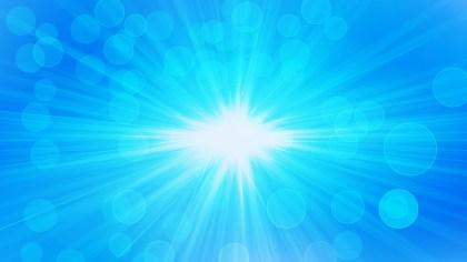 Bright Blue Light Rays Lights Bokeh Background