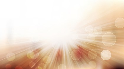 Brown and White Bokeh Background with Light Rays Vector Art