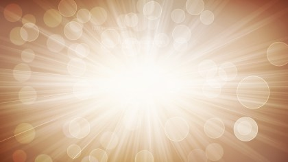 Brown and White Blurred Lights Background with Rays Illustration