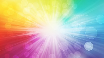 Abstract Colorful Defocused Lights with Light Rays Background