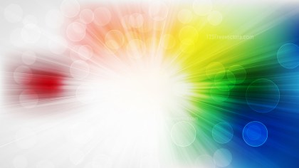 Abstract Colorful Bokeh Lights Background with Sun Rays